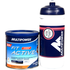 Integratore Multipower Fit Active 400 g + borraccia Multipower Giro